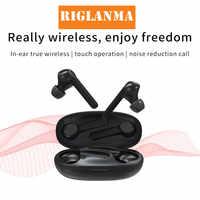 RIGLANMA X7 TWS sans fil écouteurs stéréo Bluetooth écouteurs contrôle tactile 5.0 intra-auriculaires sans fil casques avec micro haute définition