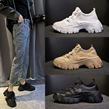 Brand Black Sneakers Women Fashion Baskets femme Sneakers Woman Shoes Sneakers 2019 New Soft Chunky Sneakers dames White Sneaker silver chunky sneakers women brand glitter sneakers women 2019 new women shoes sneakers dames black sneaker winter autumn women