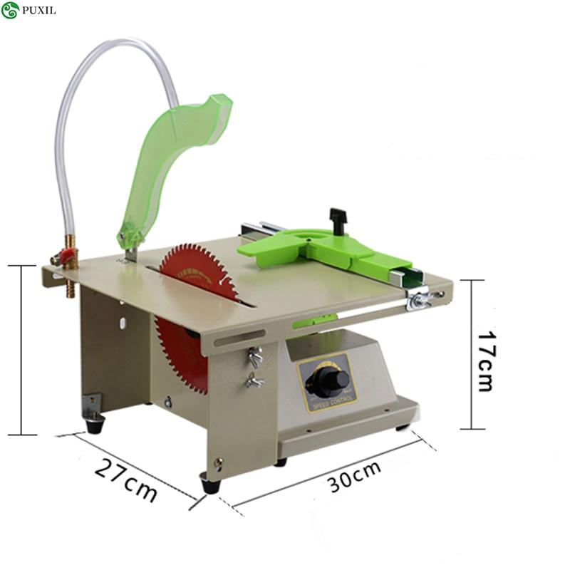 Multi-function DIY Jade Woodworking Engraving Machine Table Saw Desk Mini Polisher Stone Cutting Machinery 220V / 110V 1380W
