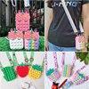 Creative Unicorn Simple Dimple Messenger Bag Fidget Toys Push Bubble Antistress Children Toy Pop Its Keychain Wallet Wholesale