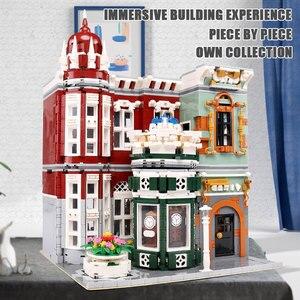 Image 2 - 16005 Streetview jouets de construction la Collection Antique boutique coin bureau de poste modèle blocs de construction enfants noël jouets cadeaux