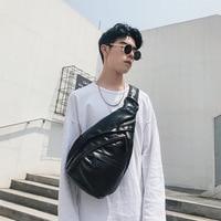 The new Korean version of men personality high capacity cycling sports bag waist diagonal chest bag trend fitness bag JIULIN