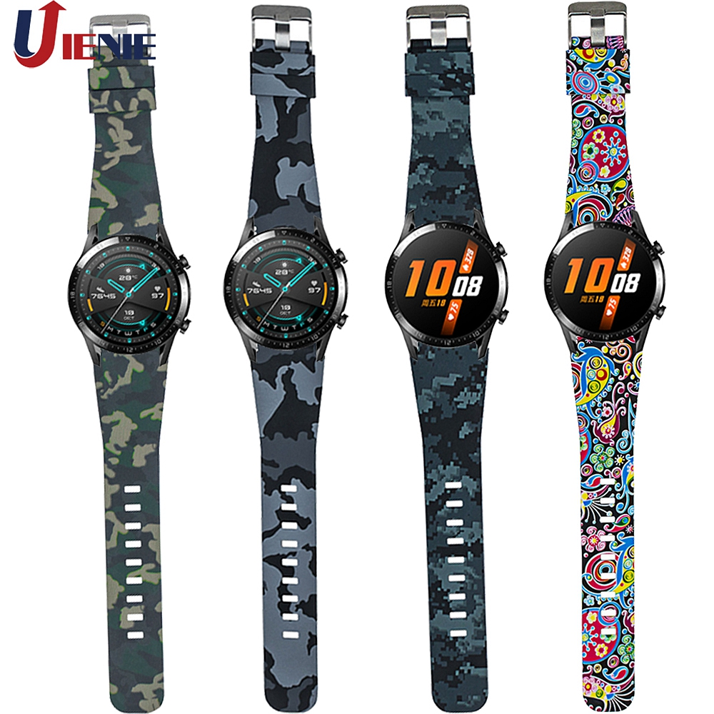 22mm Huawei Watch GT GT2 46MM Strap Silicone Watchband Sport Band For Huawei Honor Magic /GT Active/Huami Amazfit Gtr 47mm