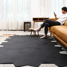 American style luxury genuine cow leather rug  , handmade natural skin fur patchwork rug, decoration mat