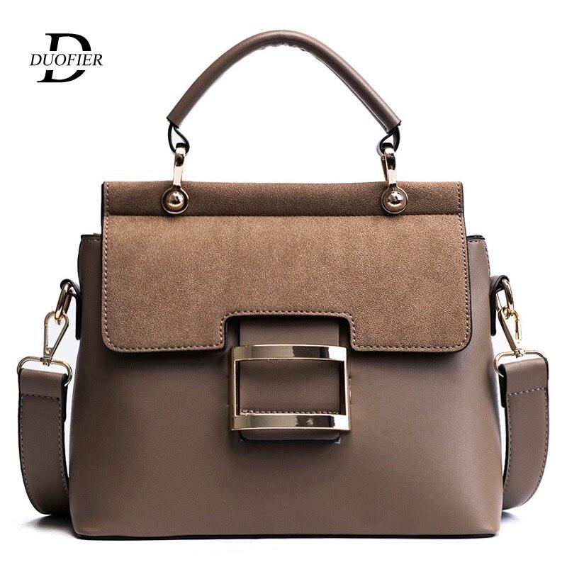 Women Bag Vintage Shoulder Bags 2019 Buckle PU Leather Handbags Crossbody Bags For Women Brand Winter Sac Femme  Temperament