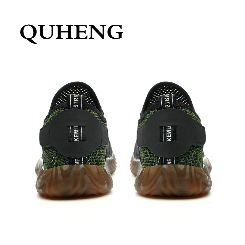 QUHENG Work Safety Shoes Woman and Men Be Applicable Outdoor Steel Toe Anti Smashing Anti-slip Puncture Proof Work Boots 5