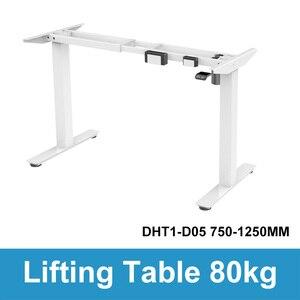 Image 5 - Elektryczny stolik pod komputer podnoszenia dzieci kolumna podnoszenia nogi do stołu meble stół biurko inteligentny regulowana wysokość podnoszenia uchwyt