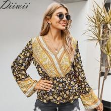 Diiwii fashion Hot New Spring Autumn Women Blouse Shirt Long