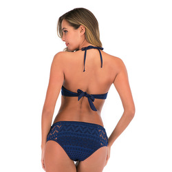 2020 kobiet stroje kąpielowe koronki zestaw bikini Sexy dwa kawałki strój kąpielowy strój kąpielowy strój kąpielowy dla kobiety maillot de bain femme XXL 6