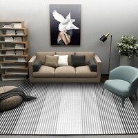 Nórdico moderno abstrato preto branco geométrico tapetes para sala de estar quarto tapete crianças estudo área macia tapetes
