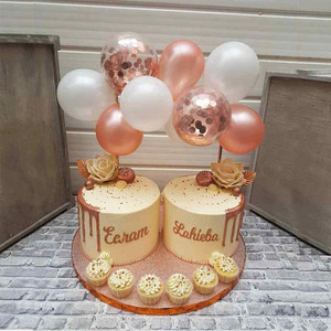 Image 3 - פלמינגו החתונה בלון Cupcake טופר קישוט ילדי מסיבת יום הולדת תינוק מקלחת חתונת טופר עוגות אפייה