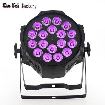 Par LED 18x12W RGBW 4in1 LED Par Can Par64 LED Spotlight Dj Projector Wash Lighting Stage Lighting