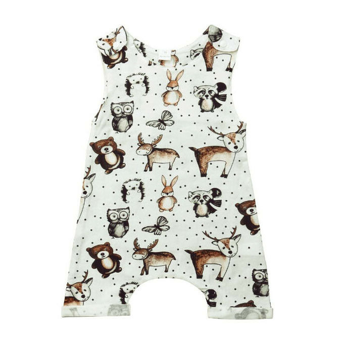 Pudcoco 2020 Infant Baby Girl Animal Cotton Romper Sleeveless Jumpsuit Playsuit Clothes Outfit