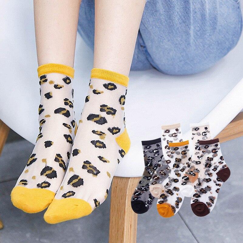 1Pair Fashion  Socks For Women Girl Lady Summer Spring Transparent Crystal Silk Socks Breathable Short Socks