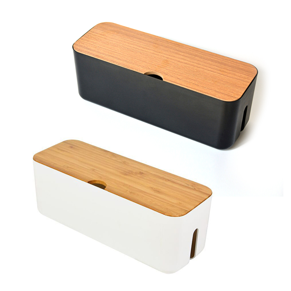 Wireless Wifi Router Box Wood-Plastic Wall Plastic Cable Storage Box Case Power Strip Wire Management Socket Tidy Organizer Plug