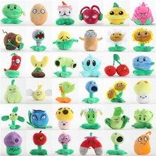 39 estilos 1 pçs 13-20cm plantas vs zumbis brinquedos de pelúcia pvz plantas peluche macio brinquedos de pelúcia boneca de brinquedo macio para crianças crianças presentes
