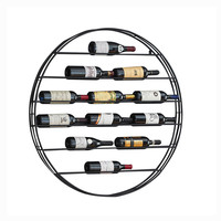 European Wine Rack Wall Hanging Wrought Iron Wine Rack Cafe Bar Wall Creative Restaurant Wine Display Stand Wine Cabinet