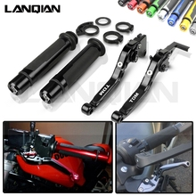 For Yamaha TDM 900 Motorcycle CNC Brake Clutch Lever & 7/8 22MM Handlebar Grips TDM900 2004-2015 2011 2012 2013 2014 Accessories