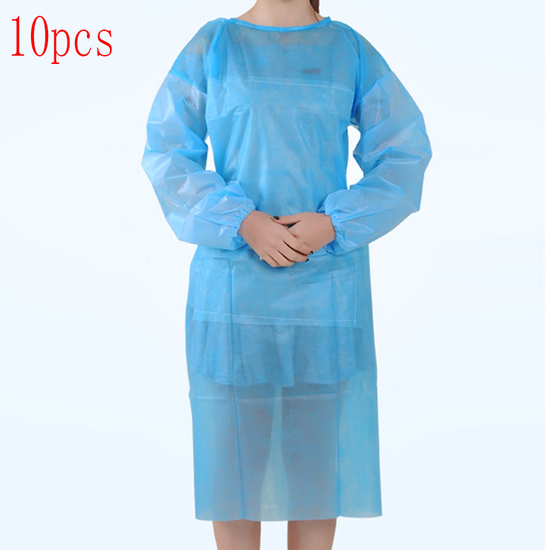 10 Pcs/lot Disposable Surgical Gowns Long Sleeve Safety Sterile Peritoneal Surgery Suit Isolation Clothing Dust Cover Clothes
