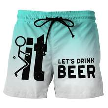 2021 New fashion mens shorts Summer travel beach shorts Personalized printing pattern short homme Funny hip-hop Swimming pants