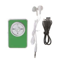 цена на Mini Clip Music Media MP3 Player Support TF Micro SD Card With Earphone USB Cable  634A