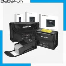 Sunnylife LiPo batterie Sichere Bag Explosion-proof Schützende Batterie Lagerung Tasche für DJI Mavic Air 2 Drone Zubehör