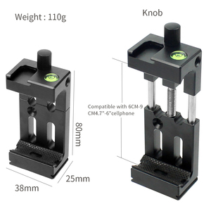 Image 5 - XJ 8 Tripod Head Bracket Mobile Phone Holder Clip For Phone Flashlight Microphone With Spirit level and Cold Shoe Mount