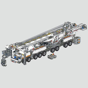 Building-Block Liebherr LTM11200 Crane Small with PF Electric-Parts MOC-20920 Particle