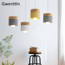Nordic Iron Wood Pendant Light Fixtures Modern Led Hanging Lamps Loft Decor Industrial Lamp Kitchen Lights Suspension Luminaire