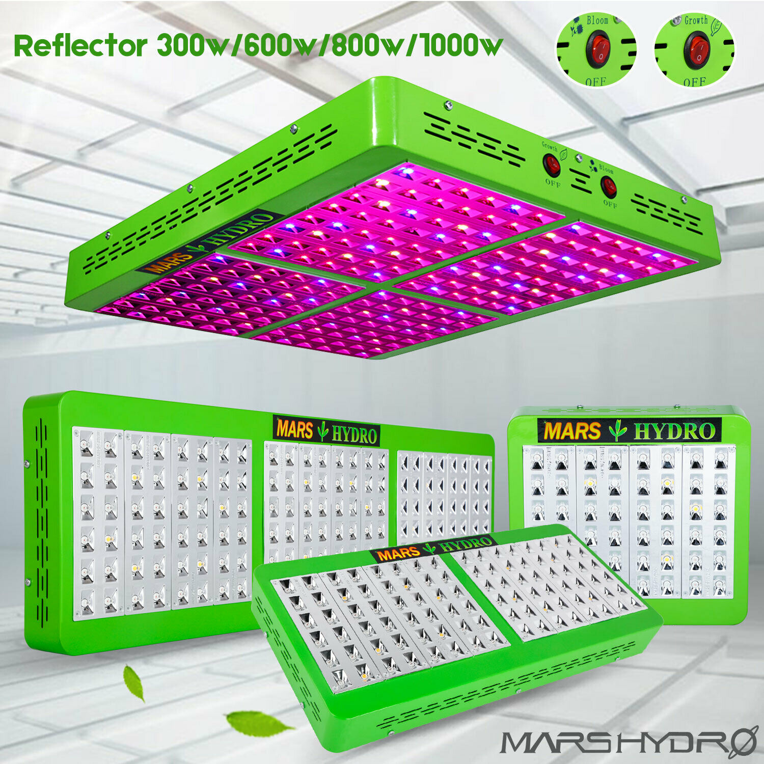 Mars Hydro Reflector 300W 600W 800W 1000W LED Grow Light Full Spectrum Indoor Hydroponics Planting Duty Free Grow Tent Plants