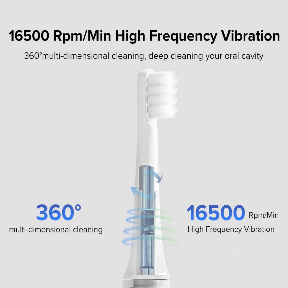 Szczoteczka soniczna T100, elektryczna szczotka do zębów, dla dorosłych, ultrasoniczna, automatyczna, zasilania i ładowana USB, wodoodporna IPX7