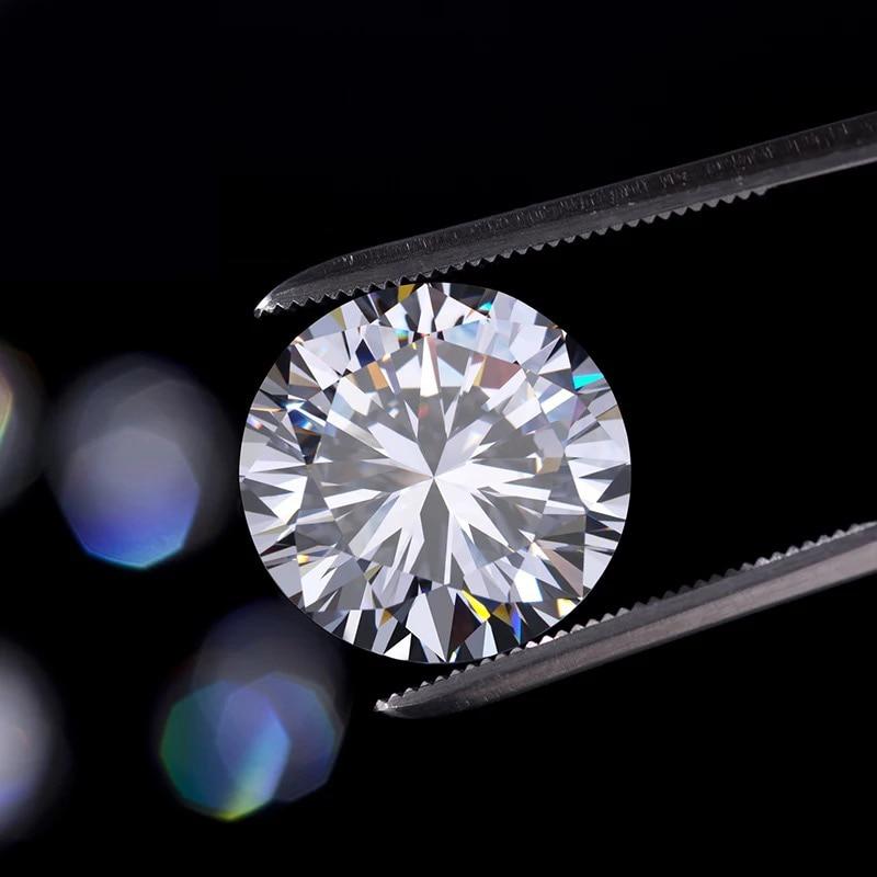 D couleur 10mm Moissanite en vrac 4ct VVS1 grade Excellent rond brillant coupe bijoux faisant pierre anneau bricolage matériel