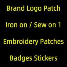 Patch de Logo de Marque brodé à coller sur les lettres, Badges à coudre personnalisés, pour vêtements, autocollants, DIY bricolage