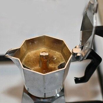 Italian Moka Espresso Coffeeware Mocha Latte Aluminum Coffee Maker Percolator Pot 100/200/300/450/600ML Stovetop Coffee Machine 6