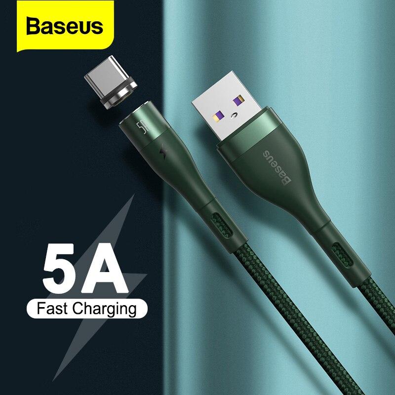 Baseus Magnetische Ladegerät Micro USB Kabel für iPhone Xiaomi Handy 5A Schnelle Lade Draht Kabel 3 in 1 Magnet USB Typ C Kabel