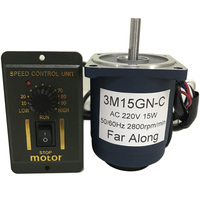 Micro Single Phase High Speed AC Motor 220V 1400/2800RPM With Speed Controller Reversed Speed Control For AC Motor Smart Device