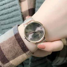 New Fashion Casual Ladies Quartz Wrist Watch Gray Small Simple Retro Women Watches Top Luxury Brand Female Vintage Leather Clock women s watches clock simple retro small girls dial female table belt casual leisurely wave best wrist watch high quality