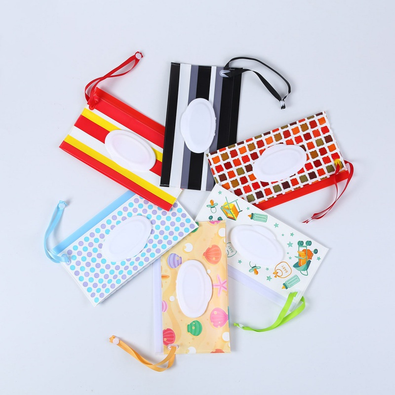 Portable Baby Wipes Container Eco-friendly Wet Wipe Pouch Dispenser EVA Case Travel Clutch Pouch Holder Reusable Refillables