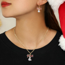 Hello Miss Christmas style new elk pendant necklace personalized set decoration jewelry