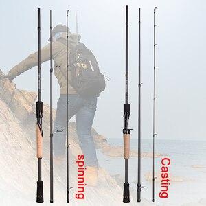 Image 2 - OBEI ELF 1.68 2.1 2.4 صنارة صيد سريعة دوّارة مصبوبة للسفر, طعم قارب vara de pesca من قطعتين 5 50 جرام/متر مربع