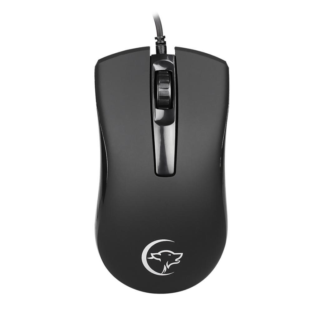 Souris de jeu filaire optique souris de jeu souris d'ordinateur sans lumière noir