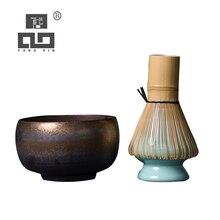 LUWU traditional matcha sets natural bamboo matcha whisk ceremic matcha bowl whisk holder japanese style tea sets