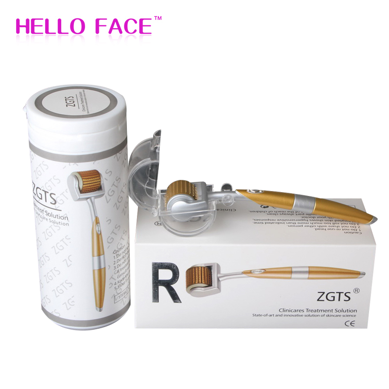 ZGTS Professional Titanium Mesoroller Derma Luxury Roller 192 Needle For Face Care And Hair-loss Treatment CE Certificate Proved