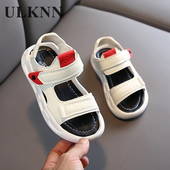 ULKNN Girls Sandals Kids Shoes Princess Sweet Anti-kick Beach Sandals For Toddlers 2020 Children's Soft Summer Shoes Size 21-36