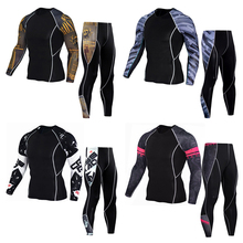 New mens fashion spring and autumn sports suit underwear + pants set of 2 sets self-cultivation