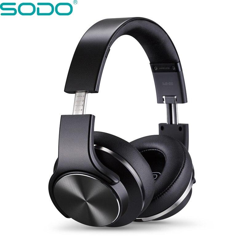 US $32.72 19% OFF Oryginalne SODO MH5 wygodne słuchawki bezprzewodowe NFC 2 in1 Twist out głośnik Bluetooth słuchawki z mikrofonem na PC i telefon