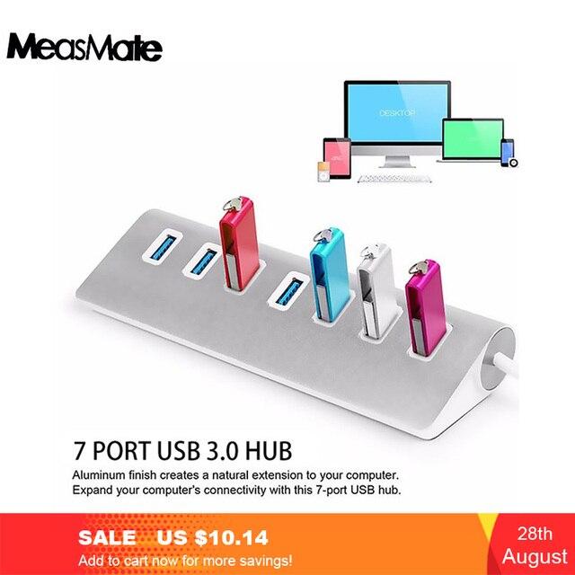 Usb 3.0 Cable Usb Hub 3.0 Usb Splitter 7 Port Usb Splitter Adapter USB3.0 Extension Cable For Macbook Pc Laptop Hard Drives