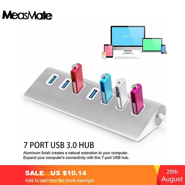 Usb 3.0 כבל Usb Hub 3.0 Usb ספליטר 7 יציאת Usb ספליטר מתאם USB3.0 הארכת כבל עבור Macbook מחשב נייד כוננים קשיחים