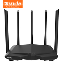 Tenda AC7 موزع إنترنت واي فاي لاسلكي AC1200 ثنائي النطاق تغطية المنزل واي فاي مكرر/العميل + AP/WISP ، دعم إدارة التطبيق ، الإعداد السهل