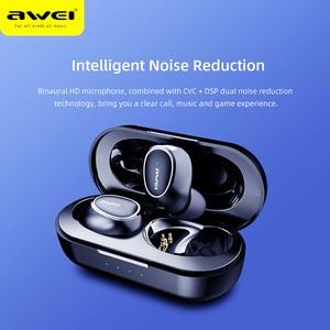 Image 5 - Awei T16 tws耳芽ワイヤレス充電イヤホン自動接続のbluetoothヘッドフォンxiaomi redmi huawei社のiphone
